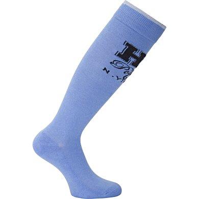 HV Polo Sokken Bold Lang Rafblauw