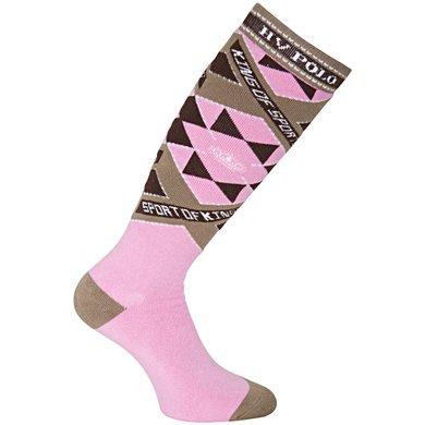HV Polo Sokken Carry Pink 35-38