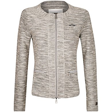 HV Polo Sweat Jacket Yuna Grey Melange