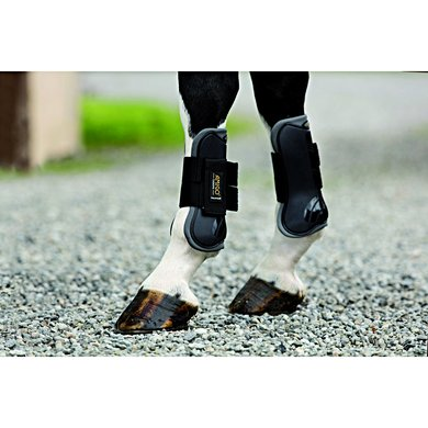 Amigo Tendon Boots Front Charcoal