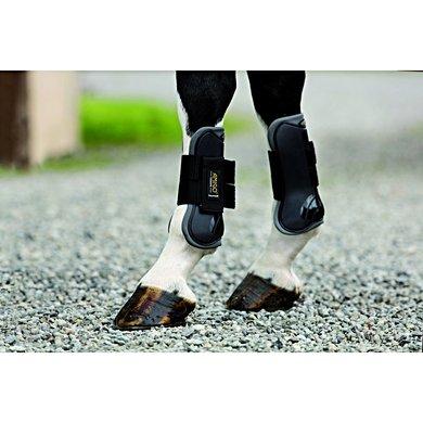 Amigo Tendon Boots Front Black/Charcoal