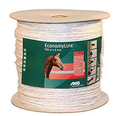 Ako Fence Rope Economyline White 500m/6mm