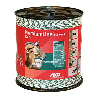 Ako Fil de Clôture Premiumline Blanc/Vert