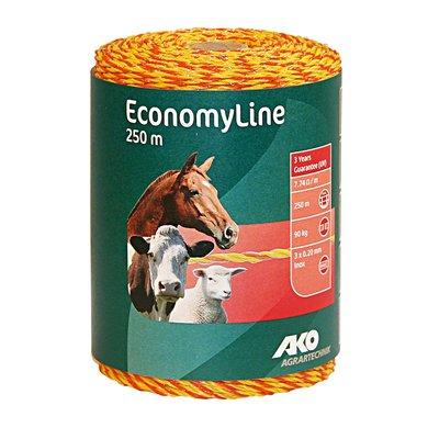 Ako Draad Economyline Geel/oranje 90kg Breuklast 250mtr.