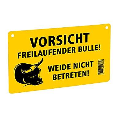 Ako Waarschuwingsbord - Voorzichtig Vrij Lopende Stier!