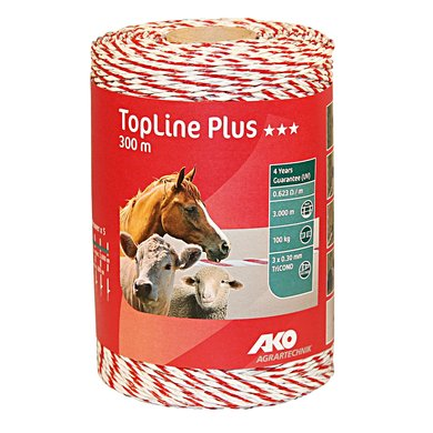 Ako Polywire Topline Plus White Red 300m
