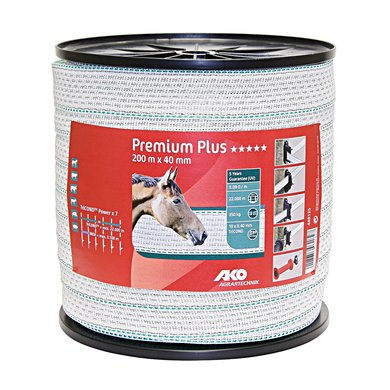 Ako Premium Plus Lint Wit/groen 40mm 200m