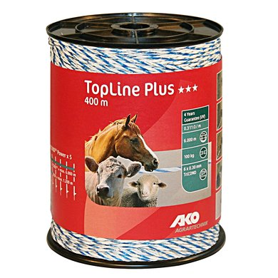 Ako Topline Plus Draad Wit/blauw 400mtr.