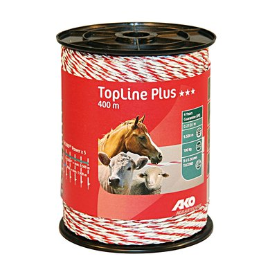 Ako Polywire Topline Plus White Red 400m