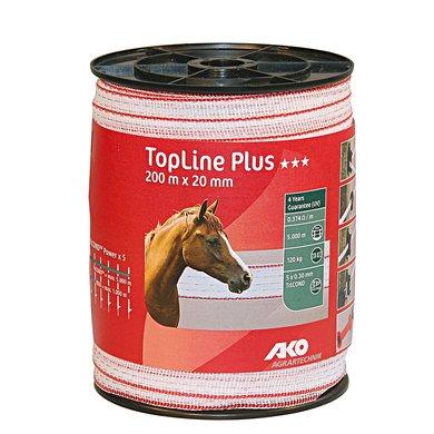 Ako Topline Lint Wit/rood 20mm 200mtr