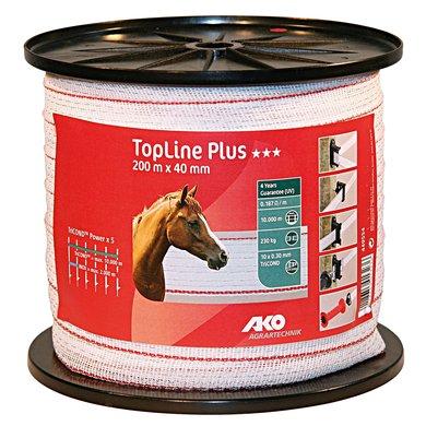 Ako Topline Lint Wit/rood 40mm 200mtr