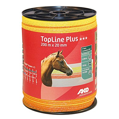 Ako Band Top Line Plus, 200m, Gelb/Orange 20mm
