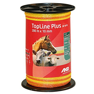 Ako Band Top Line Plus, 200m, Gelb/Orange 10mm