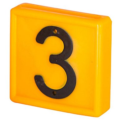 Kerbl Nummernblock Gelb
