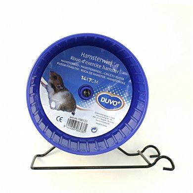 Duvo+ Hamsterwiel Op Staander Blauw/grijs 14x7cm