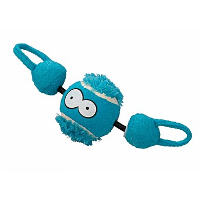 Coockoo Dog Toy Shoot Ball With String Blue 7,8 cm