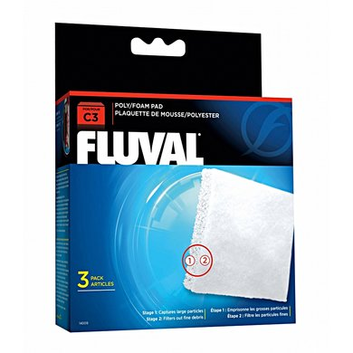 Fluval C3 Schuimstof/polyester Patroon 3st