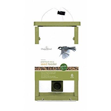 Chapelwood Eco Voedersilo Voor Zaden Groen 0,9kg/17x11x28cm