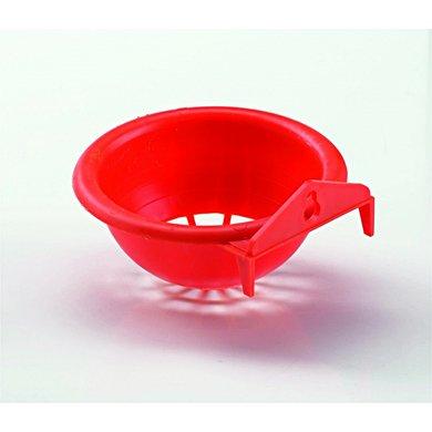 Duvo+ Nestje Plastiek Met Muurhaak Oranje 10x6cm