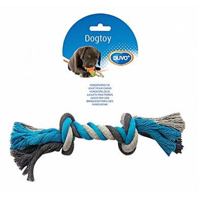 Duvo+ Dogtoy Knoop Katoen Blauw/grijs M/26cm
