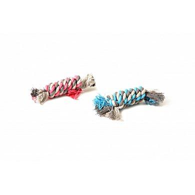 Duvo+ Knoop Katoen Dummy Blauw/roze 13cm