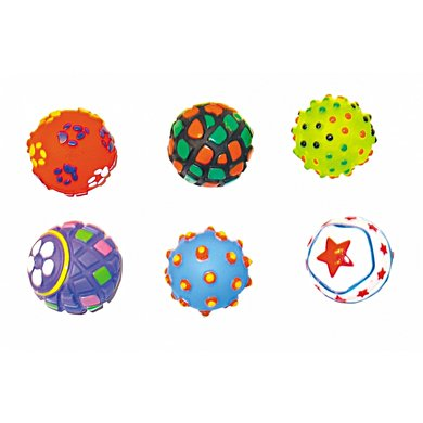 Duvo+ Dogtoy Puppy Toys Value Pack Vinyl Ball 6st
