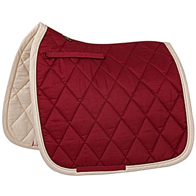 BR Saddlepad Dressage Event Red Maple Full