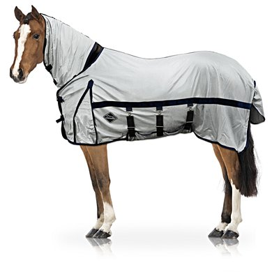 Chetaime Fly Rug Complete Silver/blue 125cm