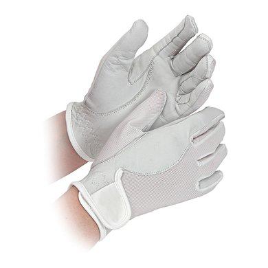 Shires Wedstrijd Handschoenen Super Cool Volwassenen White