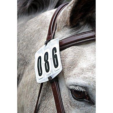Shires wedstrijdnummer houder Comfort White
