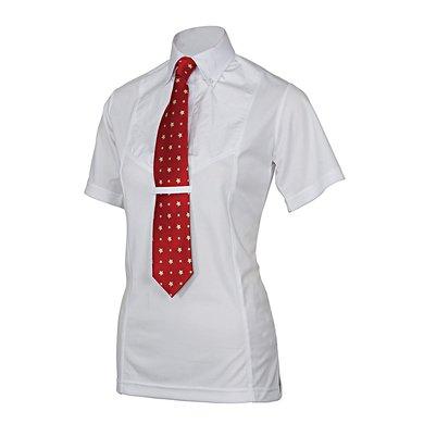 Shires Stropdas Shirt Korte Mouw Kinderen White