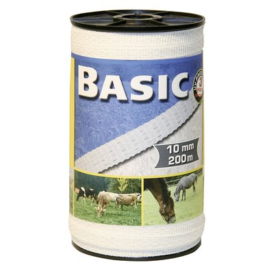 Ako Ruban de Clôture Basic 10mm 200m Blanc