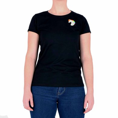 Dames T-Shirt Moos Zwart