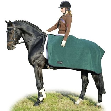 HKM Fleece Exercise Sheet Green/Black
