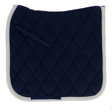 BR Tapis de Selle de Dressage Event Bleu/crème bande Full