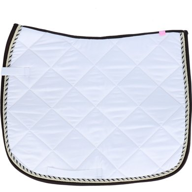 Imperial Riding Saddlepad Dressage Italy White-Brown