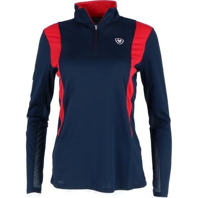 Ariat Team Sunstopper 1/4 Zip Ladies Navy