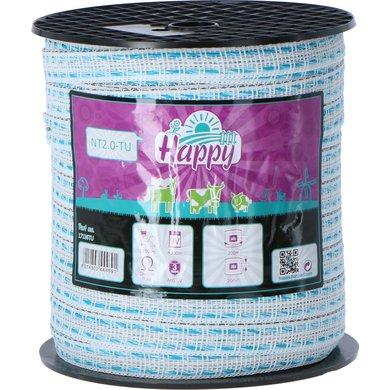 Horizont Lint Happy TLD T20 Wit/turquoise 200m