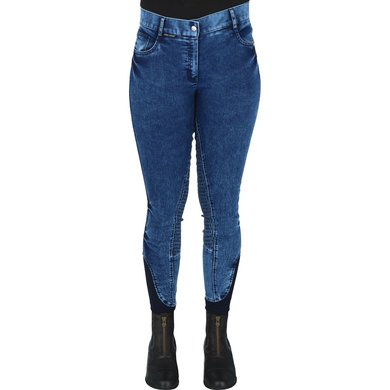 Harrys Horse Rijbroek Glam denim Full Grip Blauw
