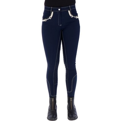 Harrys Horse Rijbroek Vegas Full Grip Navy
