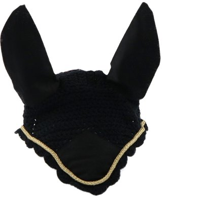 HKM Ear Bonnet Black/Gold