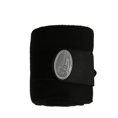 Harrys Horse Fleece Bandages Black