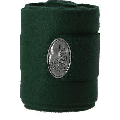 Harrys Horse Bandages Fleece 4pc Olive 3m 4 Pièce