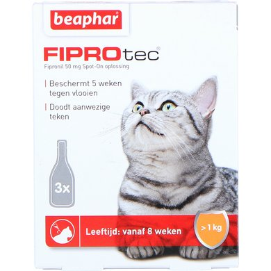 Beaphar FiproTec Cat Spot-On Katten/Kittens >1kg 3 Pipetten