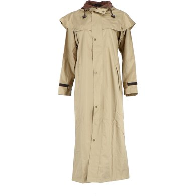 Black Roo Stockman Coat Beige