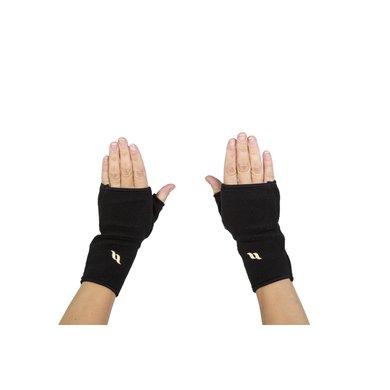 back on track fleece handschoenen zonder vingers zwart