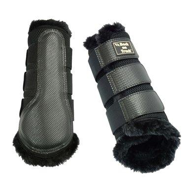 Back on Track Brush Boot 3D Mesh Voering Black