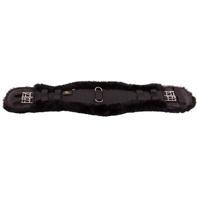 BR Dressage Girth Anatomic Lambswool Black