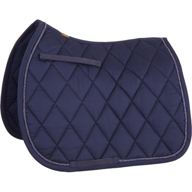 BR Saddlepad GP Event Cotton with Luxury Royal Navy Full