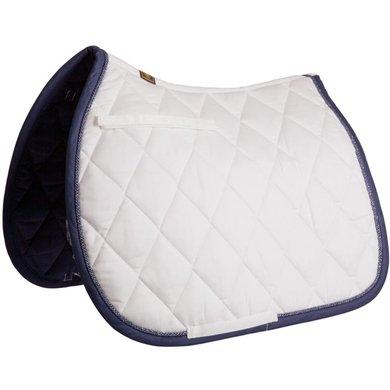BR Saddlepad General Purpose Event Cotton with Luxury Nautical White